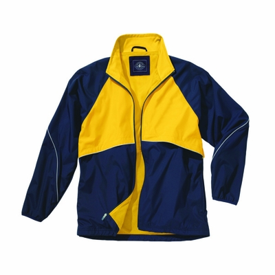 Charles River Men's Jacket: Polyester Piped Full-Zip (9672)