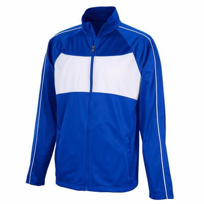 Charles River Men's Jacket: Polyester Tricot Color Block Full-Zip (9326)