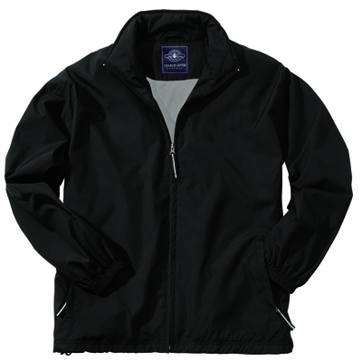 Charles River Men's Jacket: Tricot/Nylon Lined Pocketed Full-Zip (9551)