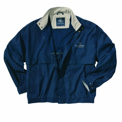 Charles River Men's Microfiber Jacket: Contrast Interior Pocketed Full-Zip (9911)