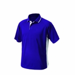 Charles River Men's Polo Shirt: 100% Polyester Color Block with Tipped Collar (3810)