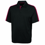 Charles River Men's Polo Shirt: 100% Polyester Color Block with Wicking (3214)