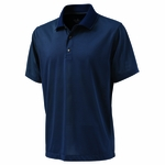 Charles River Men's Polo Shirt: 100% Polyester  Microstripe with Tipped Collar (3160)