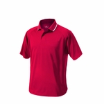 Charles River Men's Polo Shirt: 100% Polyester Pique 2-Button with Tipped Collar (3811)