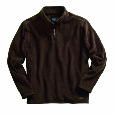 Charles River Men's Pullover Jacket: Anti-Pill  Corduroy-Styled Fleece Quarter-Zip (9098)