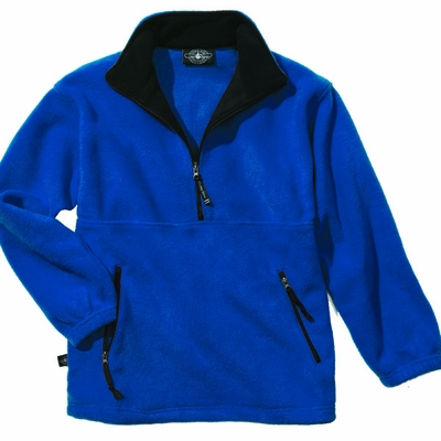 Charles River Men's Pullover Jacket: Anti-Pill Fleece Pocketed Quarter-Zip (9501)