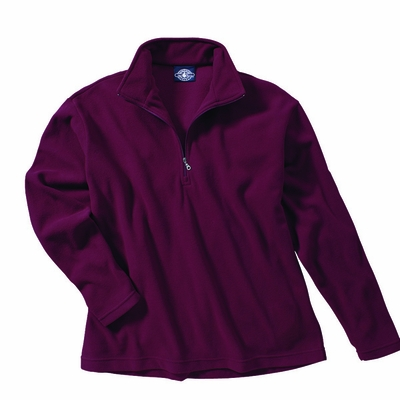 Charles River Men's Pullover Jacket: Anti-Pill  Microfleece Quarter-Zip (9970)