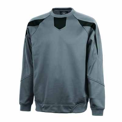 Charles River Men's Pullover Jacket: Bonded Microfleece Color Block Raglan (9489)