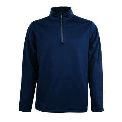 Charles River Men's Pullover Jacket: Bonded Microfleece Solid Quarter-Zip (9492)