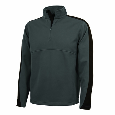 Charles River Men's Pullover Jacket: Polyester Pique Color Block Quarter-Zip (9290)