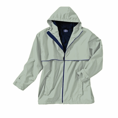Charles River Men's Rain Jacket: Stripe Full-Zip Hooded (9199)