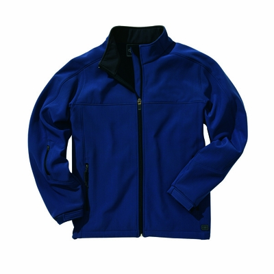 Charles River Men's Soft Shell Jacket: Bonded Microfleece Pocketed Full-Zip (9718)