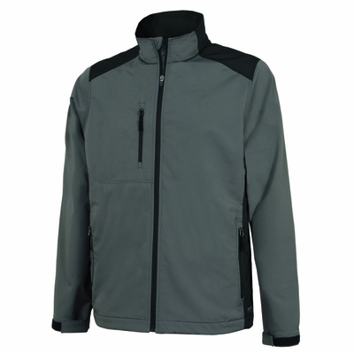 Charles River Men's Soft Shell Jacket: Poly Blend Pocketed Full-Zip (9317)