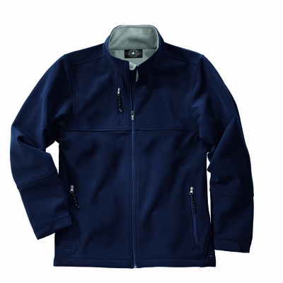Charles River Men's Soft Shell Jacket: Poly Blend Pocketed Full-Zip (9916)