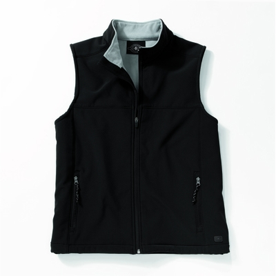 Charles River Men's Soft Shell Vest: Bonded Microfleece Pocketed Full-Zip (9819)