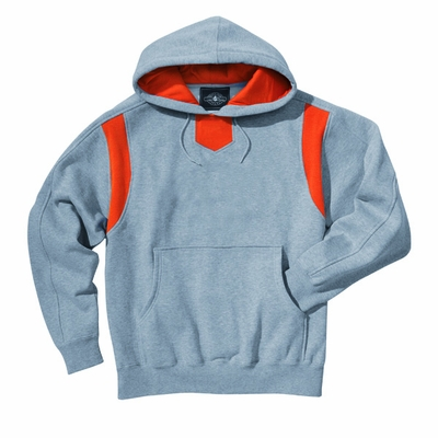 Charles River Men's Sweatshirt: Cotton Blend Color Block Hooded (9755)