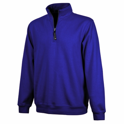 Charles River Men's Sweatshirt: Cotton Blend Pocketed Quarter-Zip (9359)