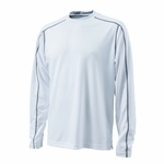 Charles River Men's T-Shirt: 100% Polyester Contrast Stitch Long Sleeve (3137)