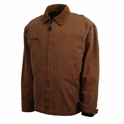 Charles River Men's Tall Jacket: 100% Brushed Cotton Duck Quilted Insulation with Pockets (9981T)