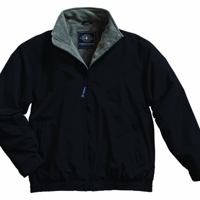 Charles River Men's Tall Jacket: Nylon Anti-Pill Fleece Lined Full-Zip (9934T)