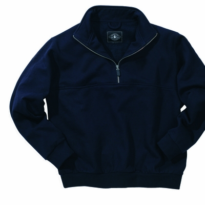 Charles River Men's Tall Sweatshirt: Cotton Blend Heavyweight  Quarter-Zip (9646T)