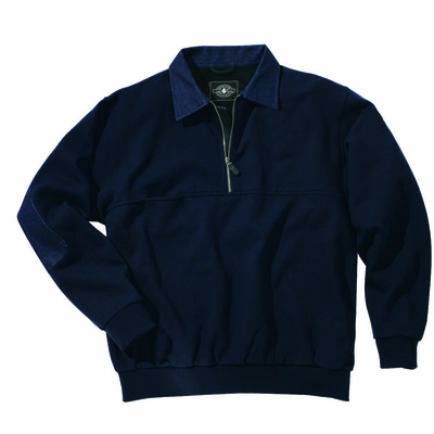 Charles River Men's Tall Sweatshirt: Cotton Blend Pocket Quarter-Zip (9645T)
