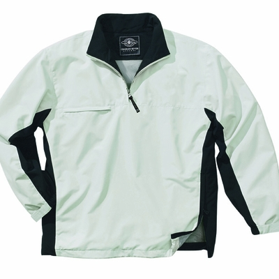 Charles River Men's Windshirt: Microfiber Color Block Quarter-Zip (9741)