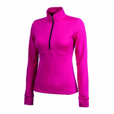 Charles River Women's Fitness Jacket: Poly Blend Jersey Quarter-Zip with Wicking (5460)