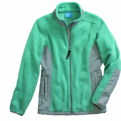 Charles River Women's Fleece Jacket: Anti-Pill Color Block Full-Zip (5031)