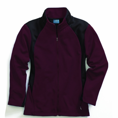 Charles River Women's Jacket: 100% Polyester Color Block Full-Zip (5077)