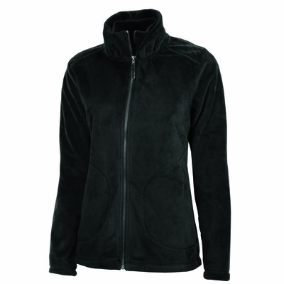 Charles River Women's Jacket: Anti-Pill Silken Fleece Pocketed Full-Zip (5236)