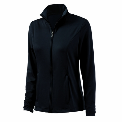 Charles River Women's Jacket: Poly Blend Pocketed Full-Zip (5186)