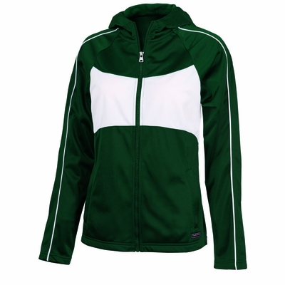 Charles River Women's Jacket: Polyester Tricot Color Block Full-Zip (5326)