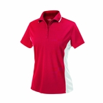 Charles River Women's Polo Shirt: 100% Polyester Color Block 5-Button (2810)