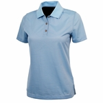 Charles River Women's Polo Shirt: 100% Polyester  Microstripe with Tipped Collar (2160)