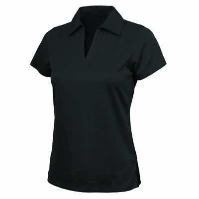 Charles River Women's Polo Shirt: 100% Polyester Performance with Johnny Collar (2213)