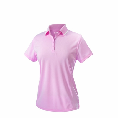Charles River Women's Polo Shirt: 100% Polyester Pique 5-Button with Tipped Collar (2811)