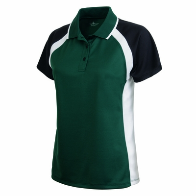 Charles River Women's Polo Shirt: 100% Polyester Pique Tri-Color Raglan (2425)