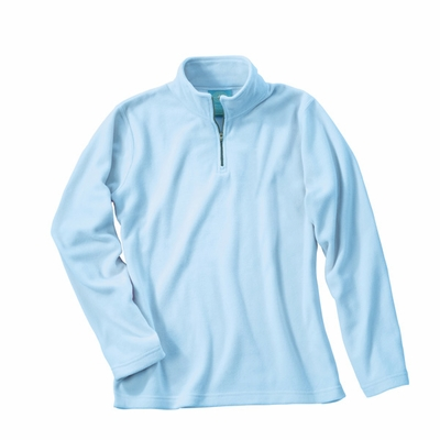 Charles River Women's Pullover Jacket: Anti-Pill  Microfleece Quarter-Zip (5870)
