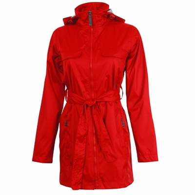 Charles River Women's Rain Jacket: Nylon Pocketed Full-Zip (5375)