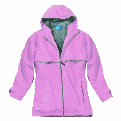 Charles River Women's Rain Jacket: Stripe Full-Zip Hooded (5099)