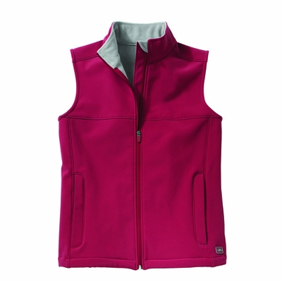 Charles River Women's Soft Shell Vest: Bonded Microfleece Pocketed Full-Zip (5819)
