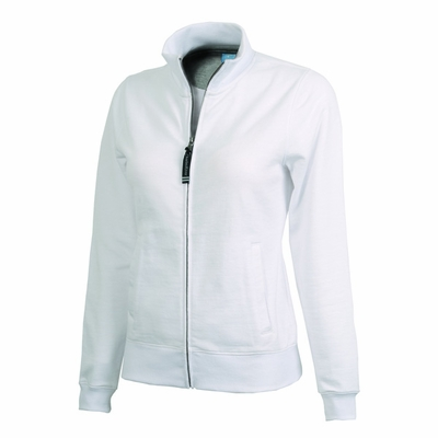 Charles River Women's Sweatshirt: Cotton Blend Pocketed Full-Zip (5468)