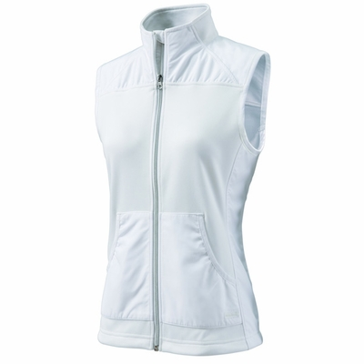 Charles River Women's Vest: Polyester Pocketed Full-Zip (5195)