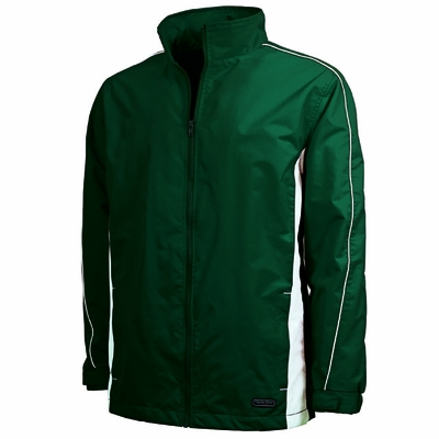 Charles River Youth Jacket: Dobby Nylon Piped Full-Zip (8367)