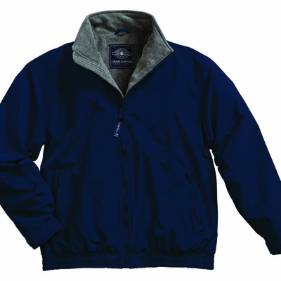 Charles River Youth Jacket: Nylon Anti-Pill Fleece Lined Full-Zip (8934)