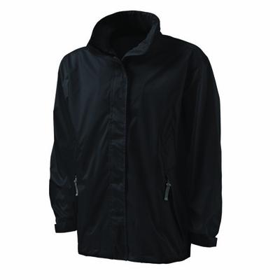 Charles River Youth Rain Jacket: Ripstop Nylon Full-Zip with Concealed Hood (8273)