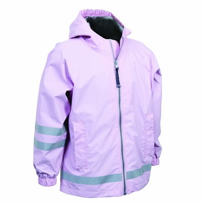 Charles River Youth Rain Jacket: Stripe Full-Zip Hooded (7099)