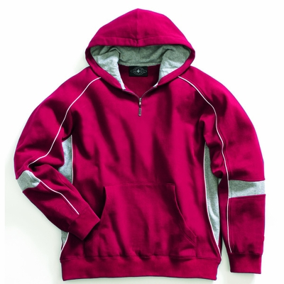 Charles River Youth Sweatshirt: Cotton Blend Piped Quarter-Zip (8052)