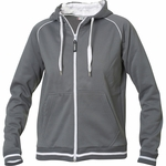 Clique Women's Full Zip Jacket: 80% Polyester, 20% Cotton Full Zip Long Sleeve (LQK00026)